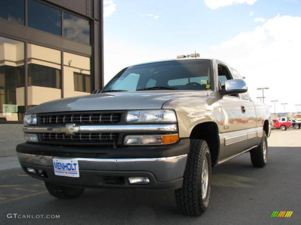 2002 Light Pewter Metallic Chevrolet Silverado 1500 Lt Extended Cab 4x4 14554411 Photo 2