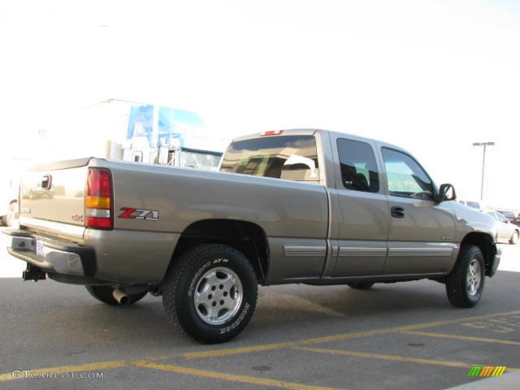 2002 Light Pewter Metallic Chevrolet Silverado 1500 Lt Extended Cab 4x4 14554411 Photo 4