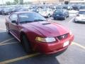 2000 Laser Red Metallic Ford Mustang V6 Coupe  photo #13