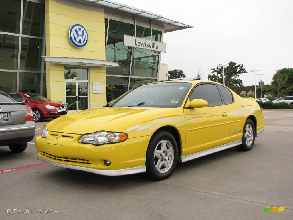2002 monte carlo ss limited edition pace car competition yellow ebony photo 1