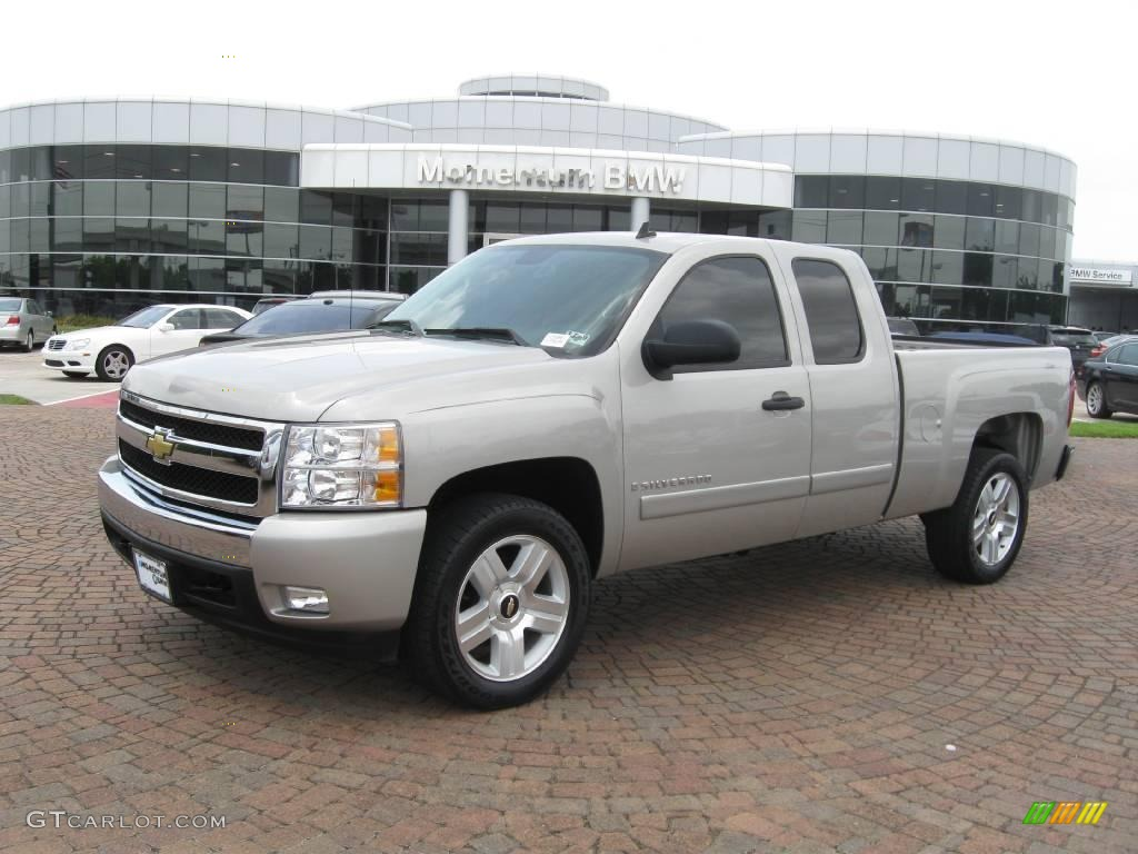 2007 silver birch metallic chevrolet silverado 1500. Black Bedroom Furniture Sets. Home Design Ideas