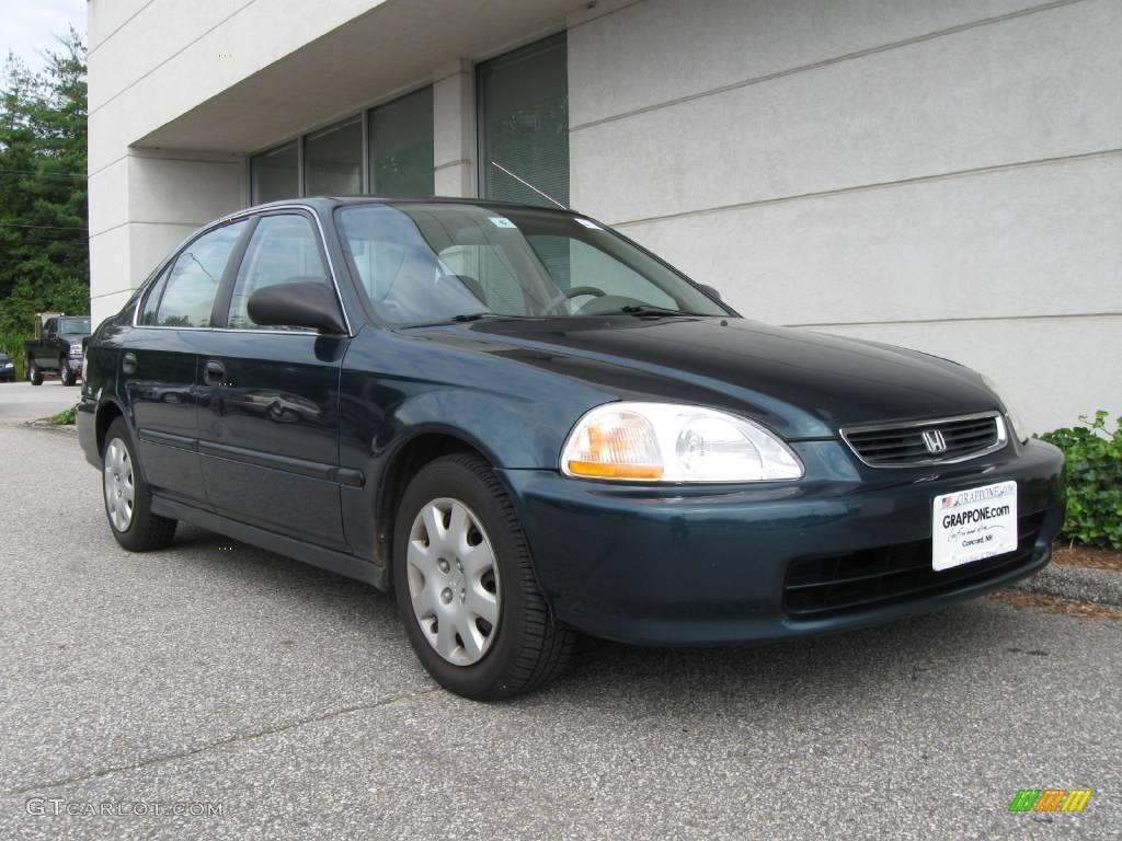 1998 Dark Green Pearl Metallic Honda Civic Lx Sedan