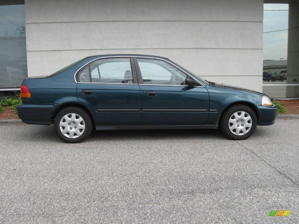 1998 dark green pearl metallic honda civic lx sedan 14648259 photo 2 car. Black Bedroom Furniture Sets. Home Design Ideas