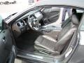 2010 Ford Mustang Charcoal Black Interior Front Seat Photo