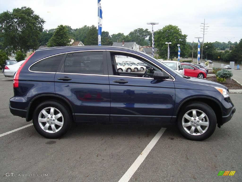 2008 CR-V EX 4WD - Royal Blue Pearl / Black photo #6