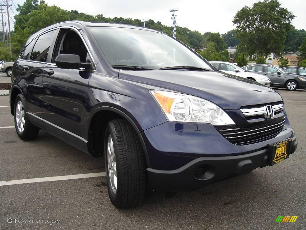2008 CR-V EX 4WD - Royal Blue Pearl / Black photo #7