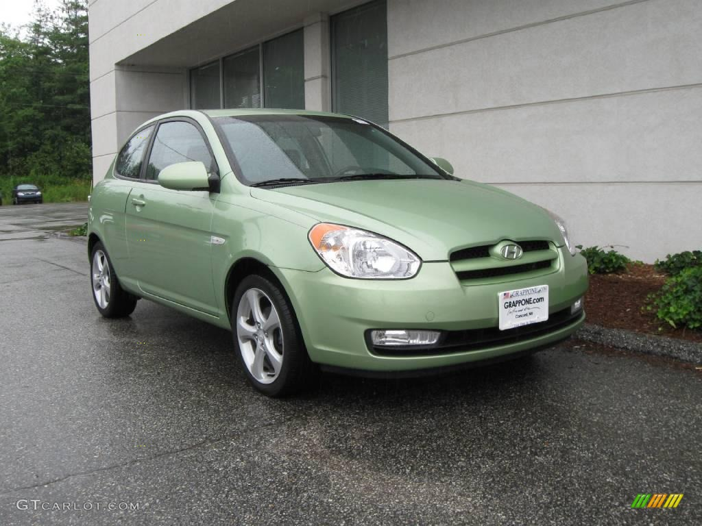 2007 Apple Green Hyundai Accent SE Coupe 14648247