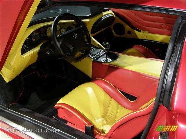 Red Yellow Interior 1999 Lamborghini Diablo Vt Roadster Momo Limited