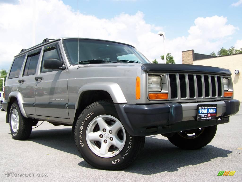 2000 jeep cherokee sport 4x4 silverstone metallic color agate. Cars Review. Best American Auto & Cars Review