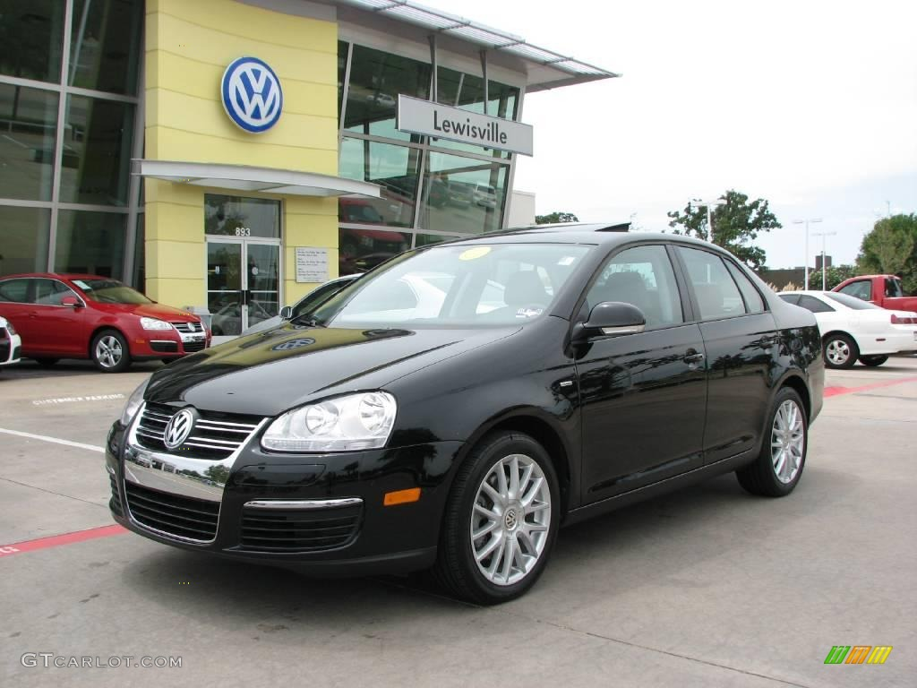 2009 black uni volkswagen jetta wolfsburg edition sedan. Black Bedroom Furniture Sets. Home Design Ideas