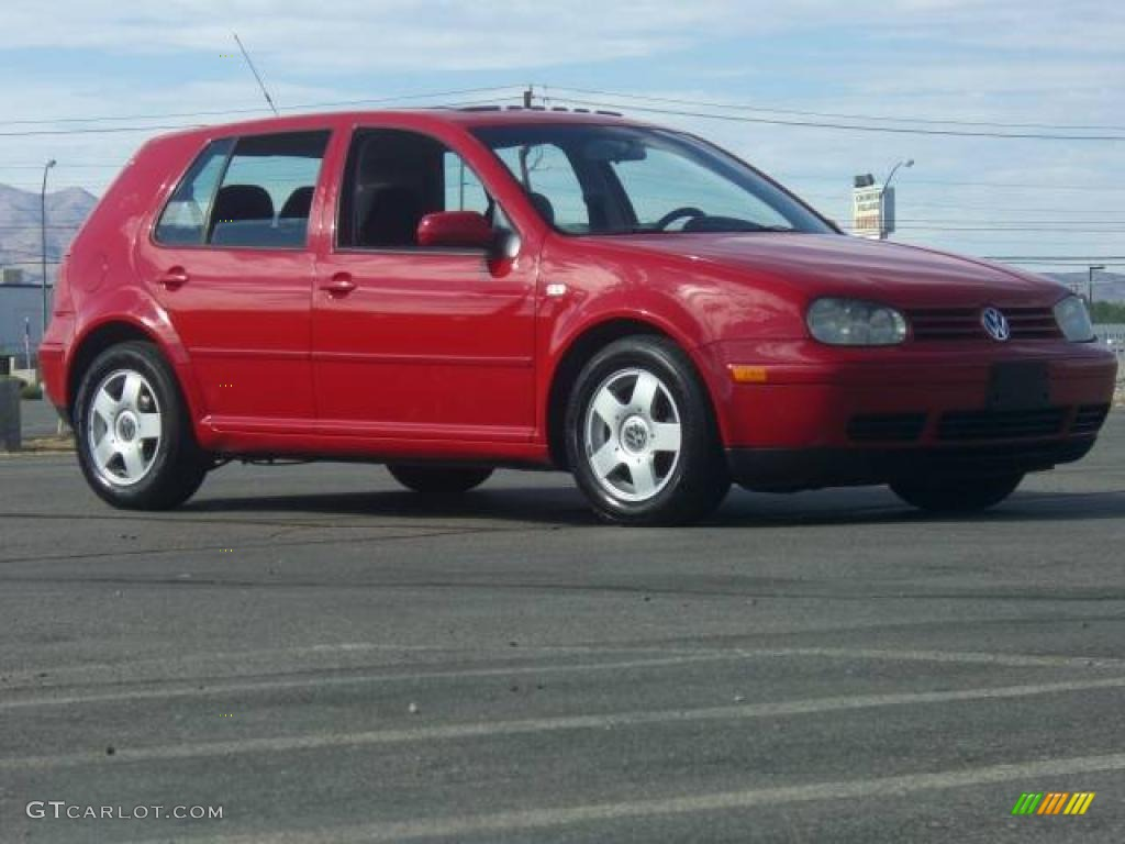 2001 tornado red volkswagen golf gls 4 door 14646867. Black Bedroom Furniture Sets. Home Design Ideas