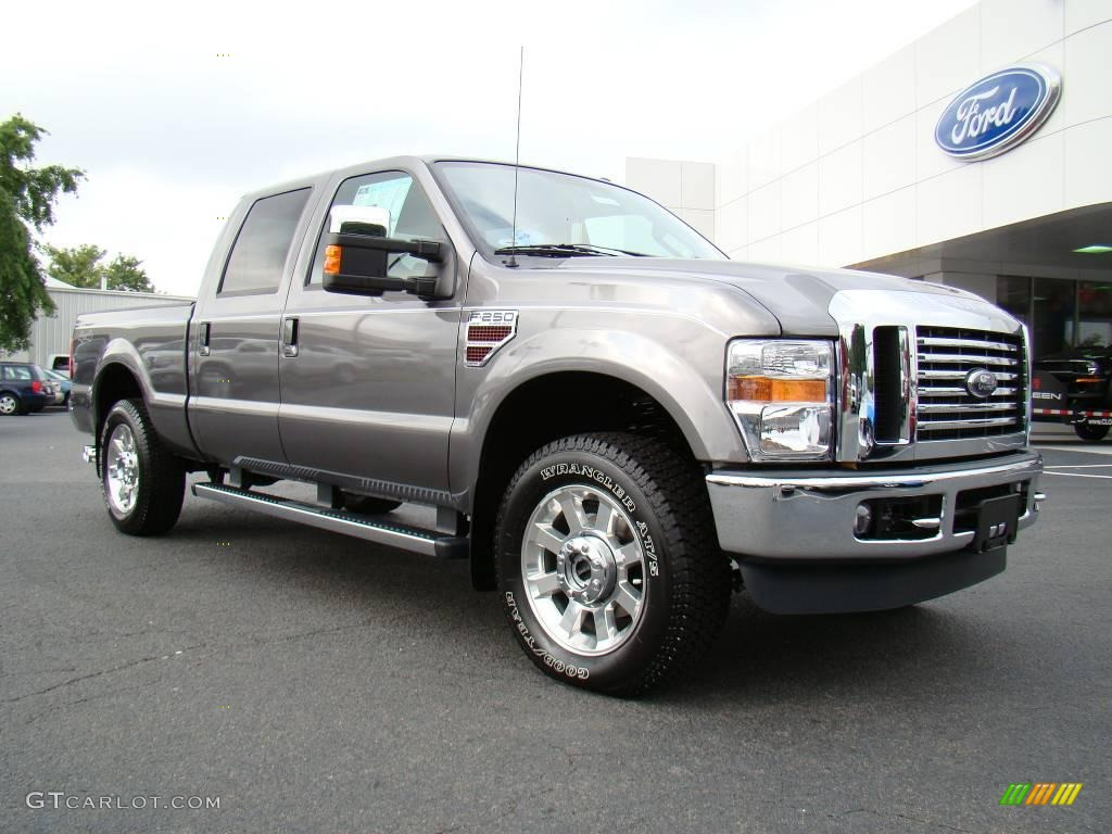 2010 f250 super duty lariat crew cab 4x4 sterling gray metallic ebony photo