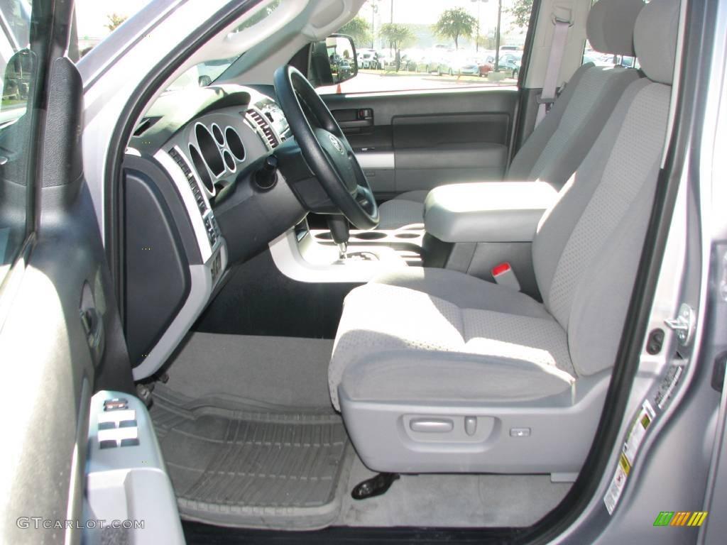 Graphite Gray Interior 2008 Toyota Tundra Sr5 Double Cab Photo
