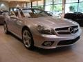 Front 3/4 View of 2009 SL 550 Silver Arrow Edition Roadster