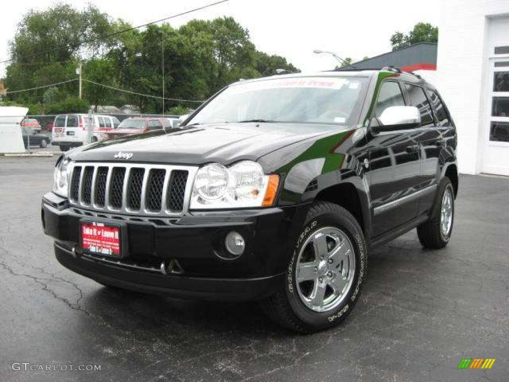 2006 black jeep grand cherokee overland 4x4 14720257 car color galleries. Black Bedroom Furniture Sets. Home Design Ideas