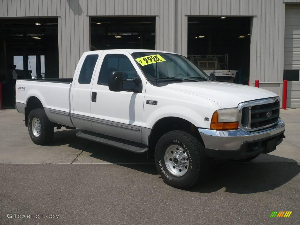 1999 f250 super duty xlt extended cab 4x4 oxford white medium graphite photo