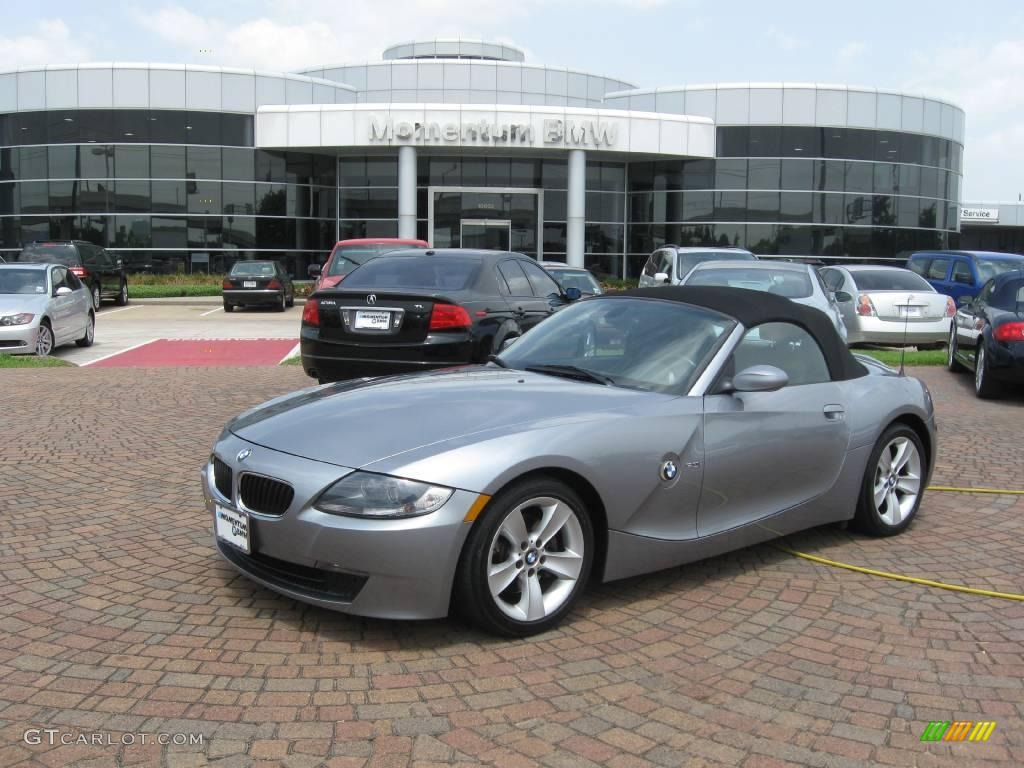 2006 Silver Grey Metallic Bmw Z4 3 0i Roadster 14718422 Gtcarlot Com Car Color Galleries
