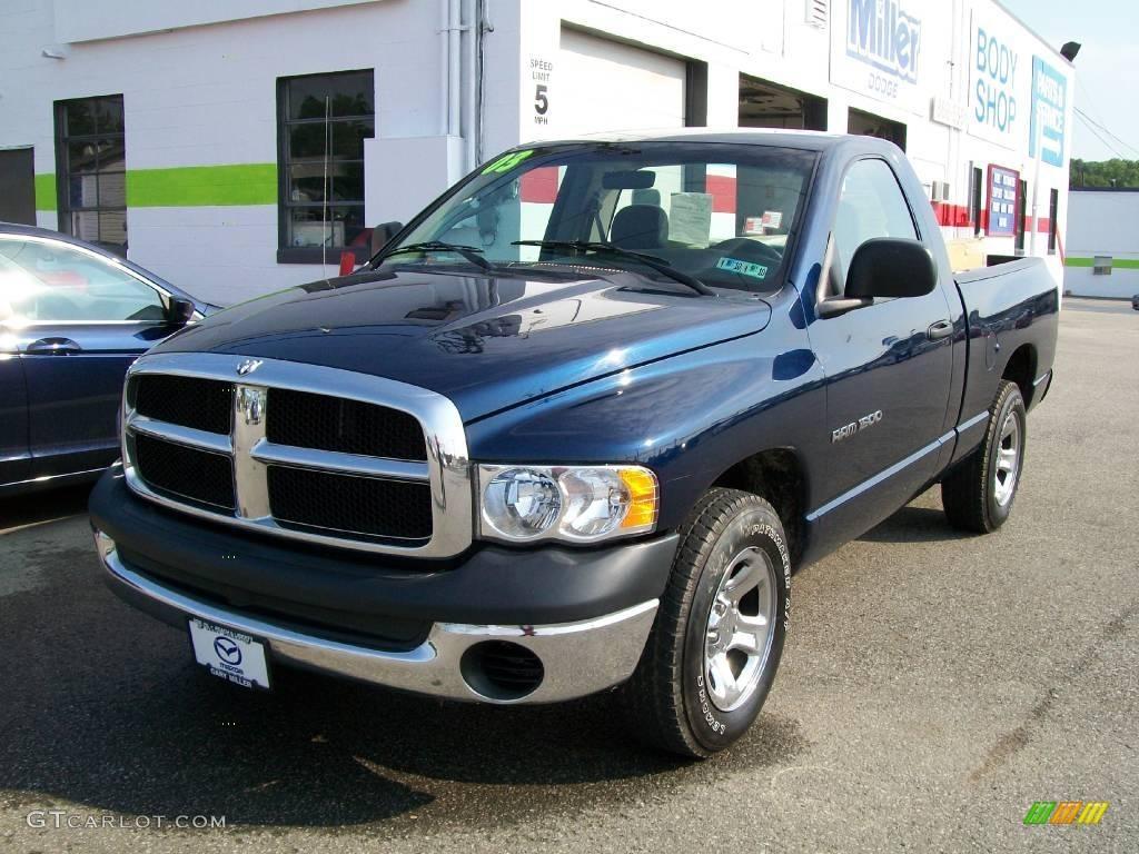 2003 patriot blue pearl dodge ram 1500 st regular cab 14713298 car color galleries. Black Bedroom Furniture Sets. Home Design Ideas