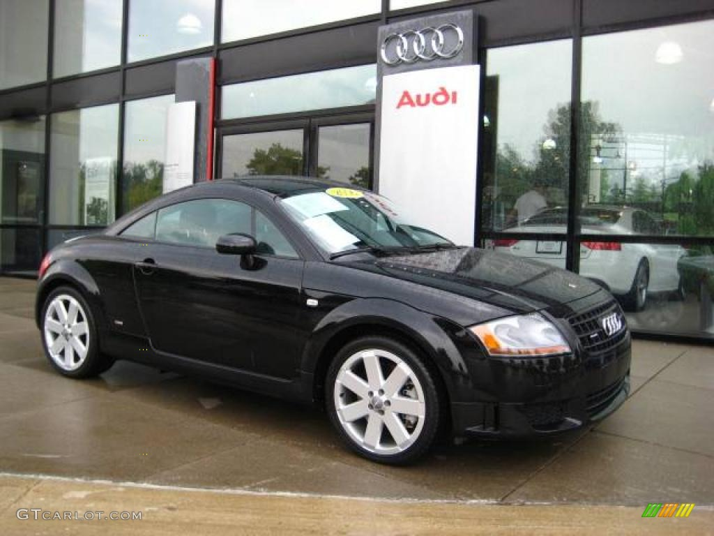2006 brilliant black audi tt 3 2 quattro coupe 14712119. Black Bedroom Furniture Sets. Home Design Ideas