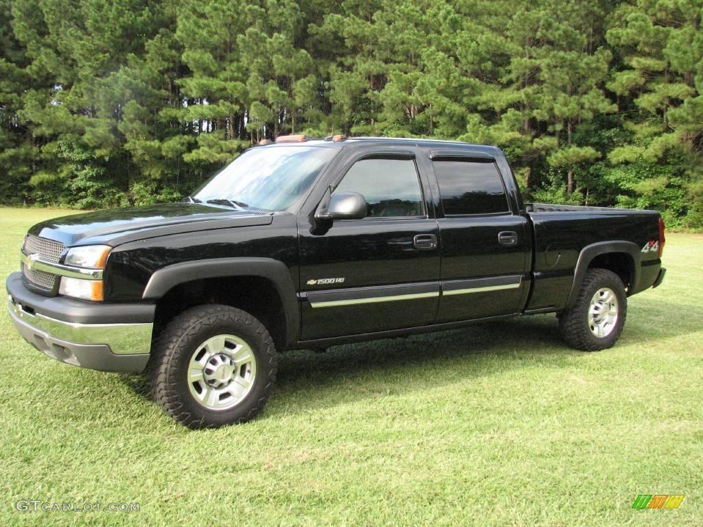 2003 silverado 1500 hd crew cab 4x4 black dark charcoal photo 5