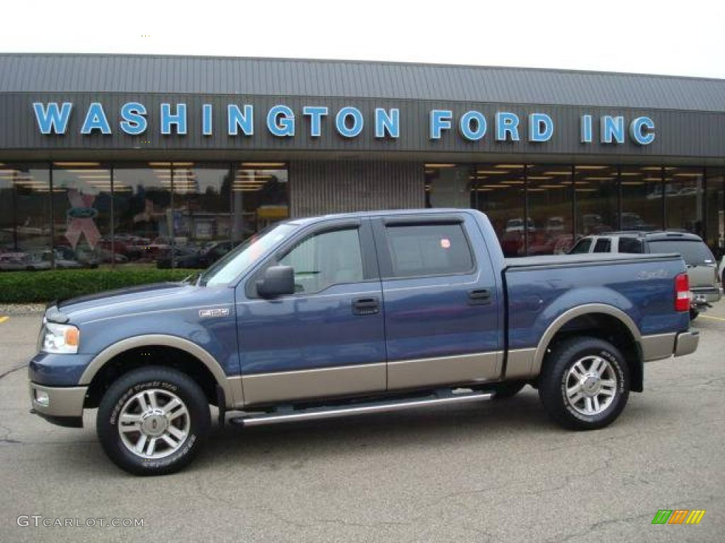 Medium wedgewood blue metallic ford f150