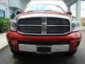 2008 Blaze Red Crystal Pearl Dodge Ram 1500 Laramie Quad Cab 4x4  photo #3
