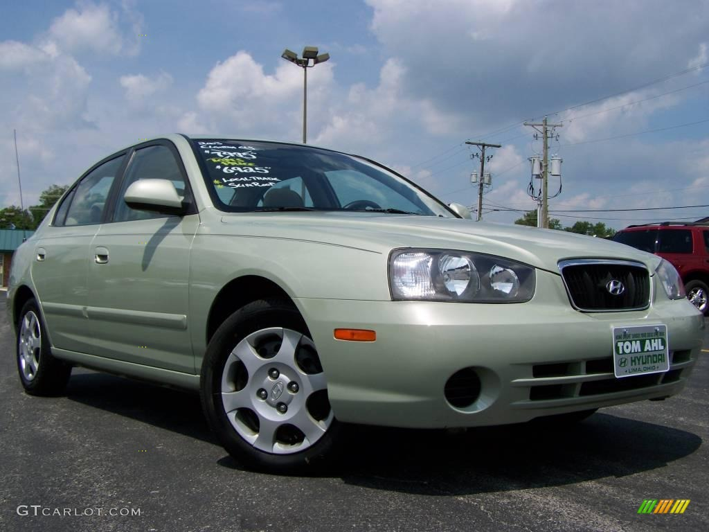 2003 platinum green metallic hyundai elantra gls sedan. Black Bedroom Furniture Sets. Home Design Ideas
