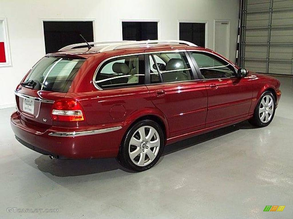 2005 radiance red metallic jaguar x type 3 0 sport wagon 14842708 photo 2 car. Black Bedroom Furniture Sets. Home Design Ideas