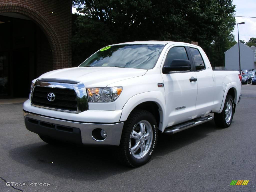 2009 super white toyota tundra x sp double cab 4x4. Black Bedroom Furniture Sets. Home Design Ideas