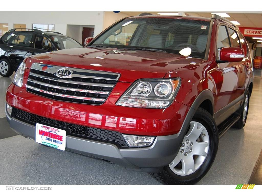 2009 spicy red kia borrego ex v8 14835414 gtcarlot car spicy red kia borrego sciox Images