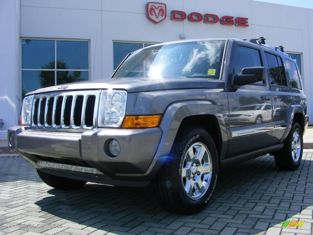 2007 mineral gray metallic jeep commander limited #14836648