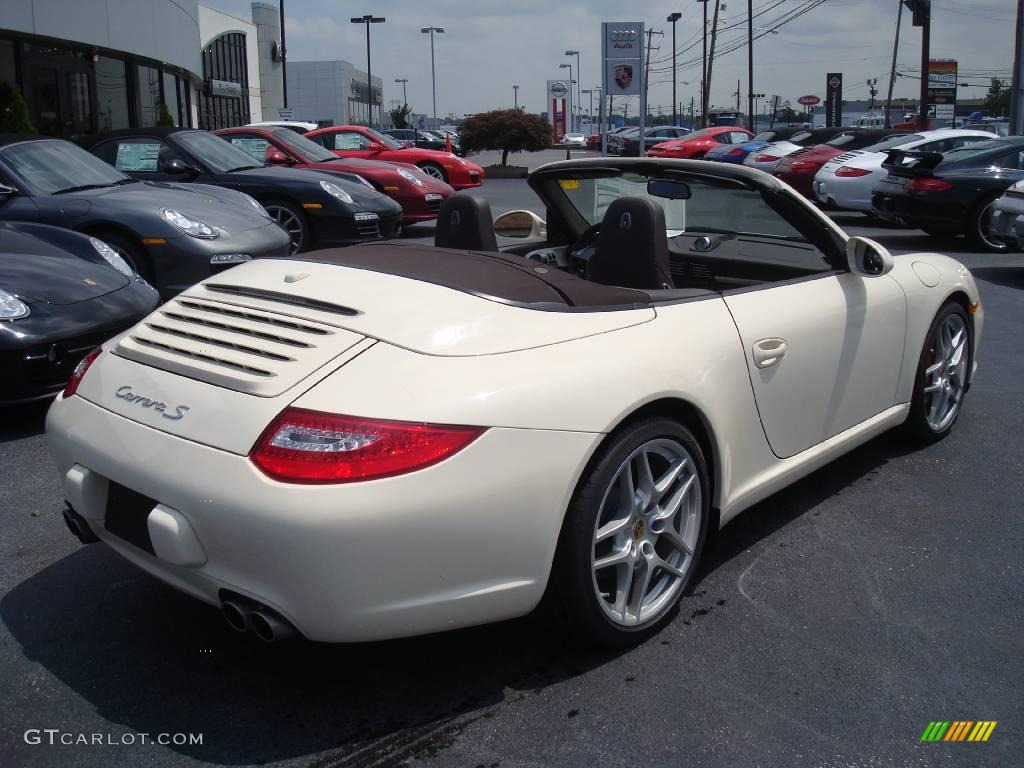 2009 cream white porsche 911 carrera s cabriolet 14824442 photo 7 car color. Black Bedroom Furniture Sets. Home Design Ideas
