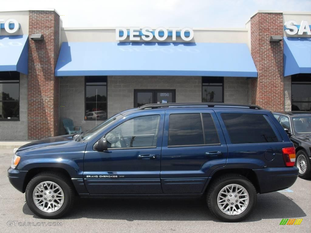 2002 patriot blue pearlcoat jeep grand cherokee limited 4x4