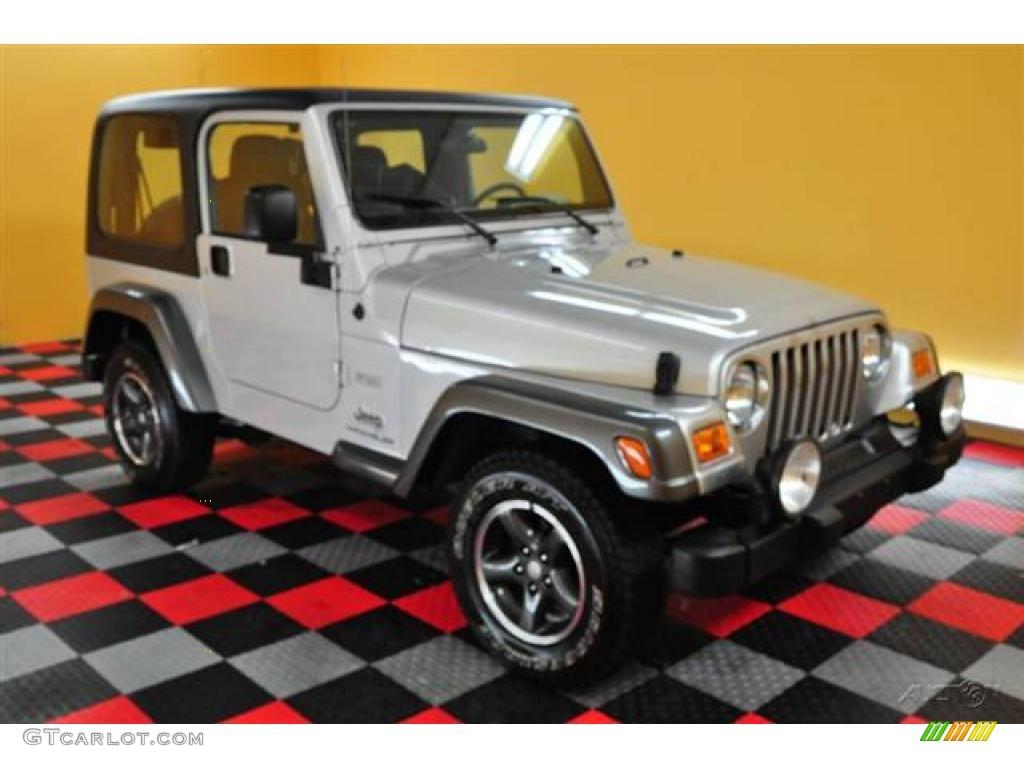 2004 bright silver metallic jeep wrangler columbia edition 4x4 14939348 car. Black Bedroom Furniture Sets. Home Design Ideas