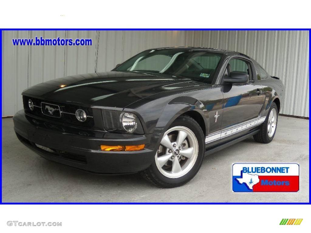 2007 Mustang V6 Premium Coupe - Alloy Metallic / Light Graphite photo #1