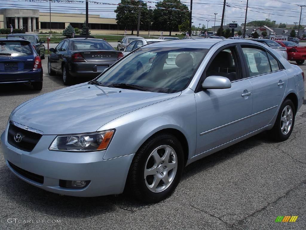 2006 Silver Blue Metallic Hyundai Sonata Gls V6 14938368