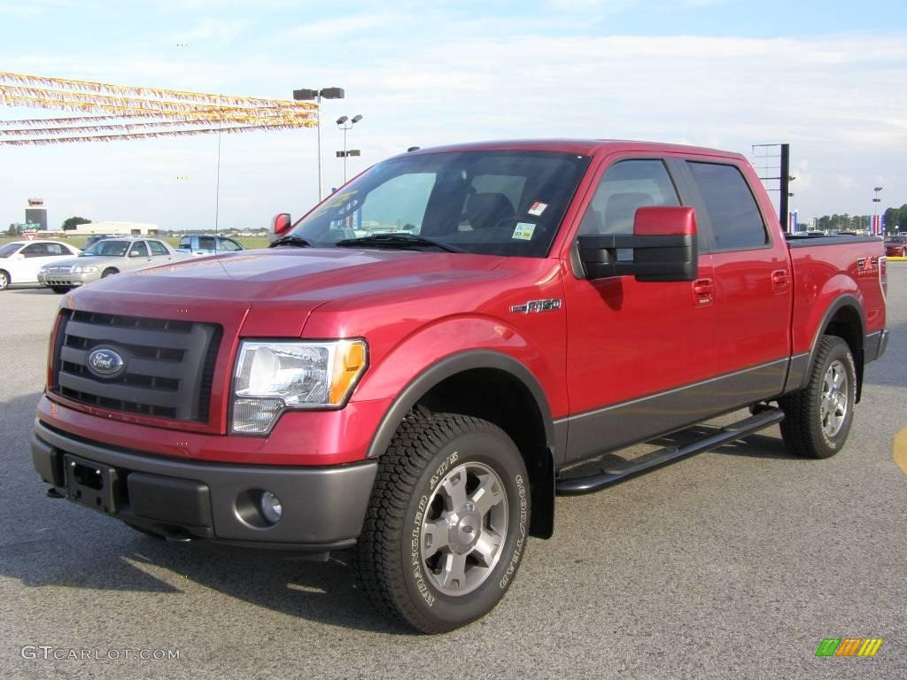 2009 razor red metallic ford f150 fx4 supercrew 4x4. Black Bedroom Furniture Sets. Home Design Ideas