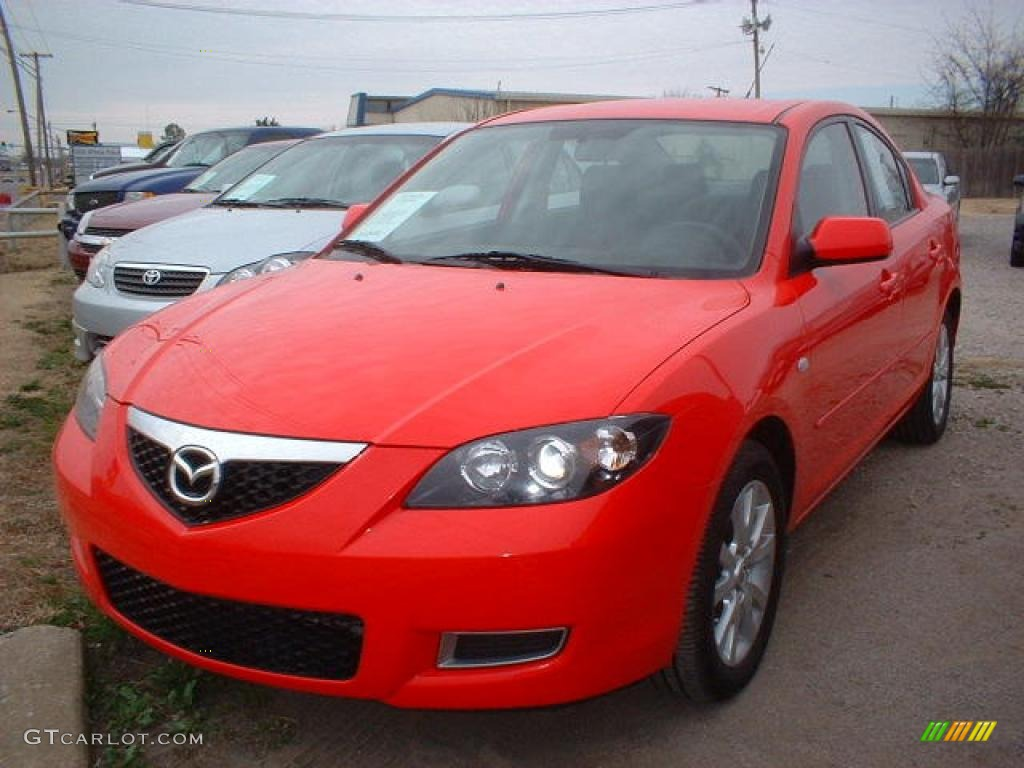 2007 true red mazda mazda3 i sport sedan 14988835 car color galleries. Black Bedroom Furniture Sets. Home Design Ideas