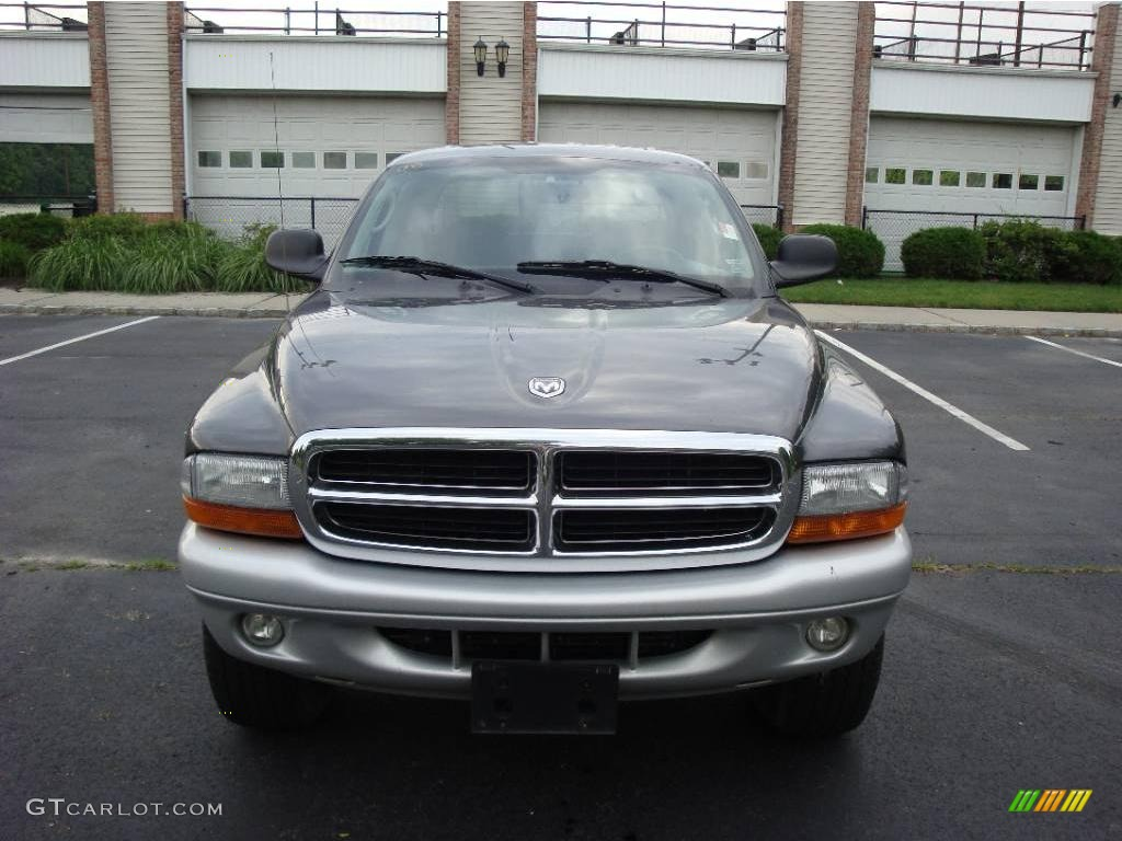 2004 Dakota SLT Quad Cab 4x4 - Graphite Metallic / Dark Slate Gray photo #3