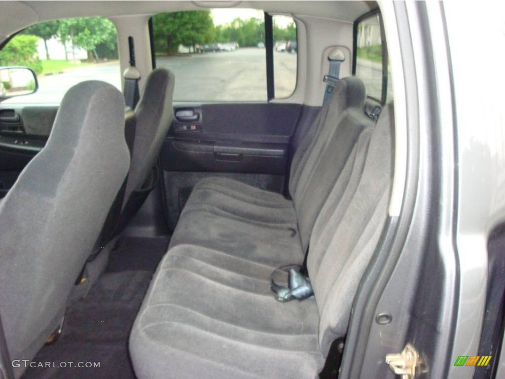 2004 Dakota SLT Quad Cab 4x4 - Graphite Metallic / Dark Slate Gray photo #7