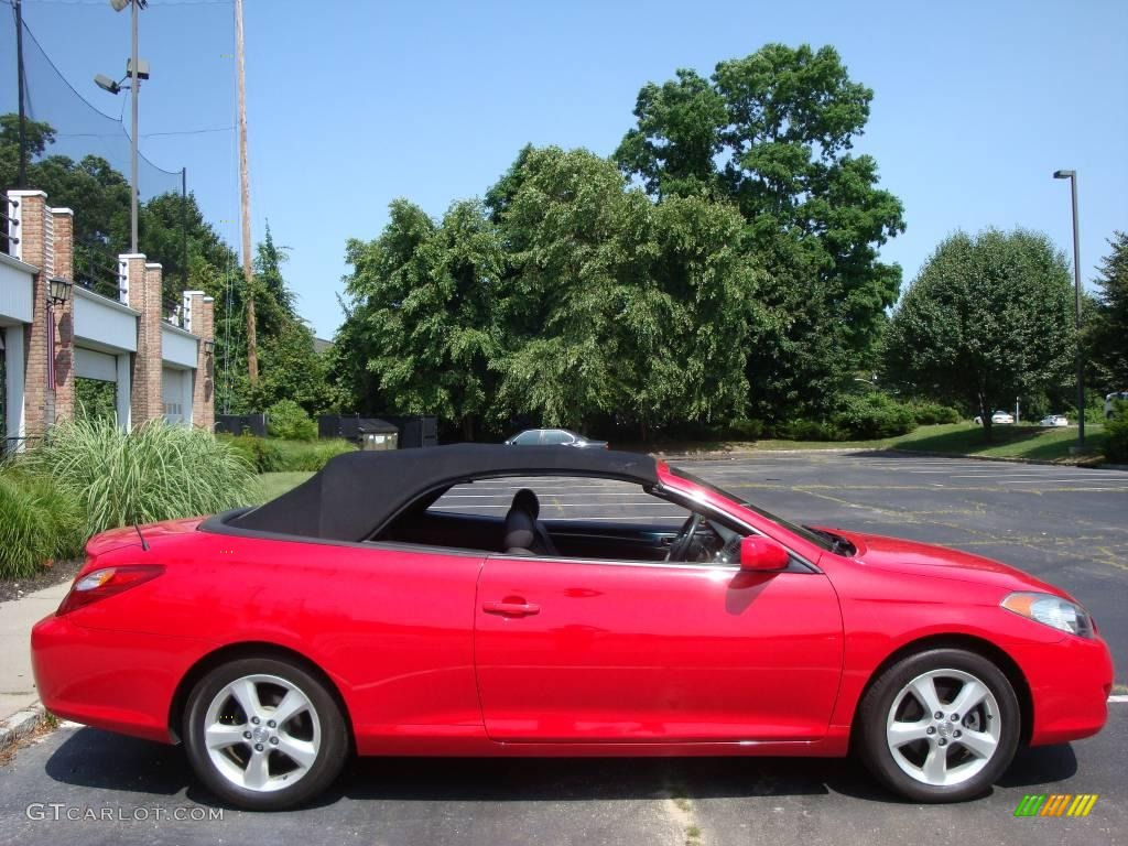 2006 Absolutely Red Toyota Solara Se V6 Convertible