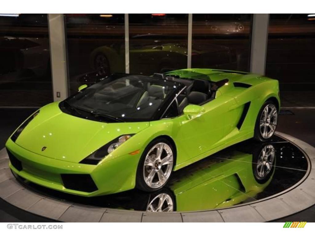 2007 gallardo spyder verde faunus light green nero perseus photo 87 - Lamborghini Gallardo Spyder Green