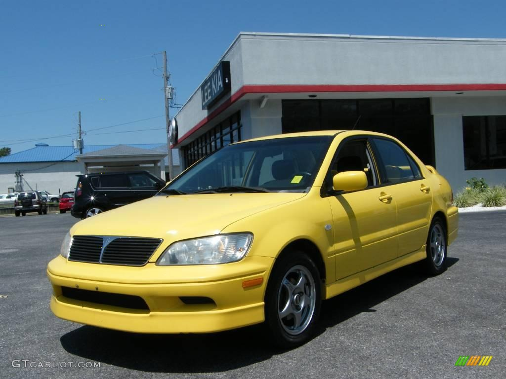 2003 lightning yellow mitsubishi lancer oz rally 15058119 car color galleries. Black Bedroom Furniture Sets. Home Design Ideas