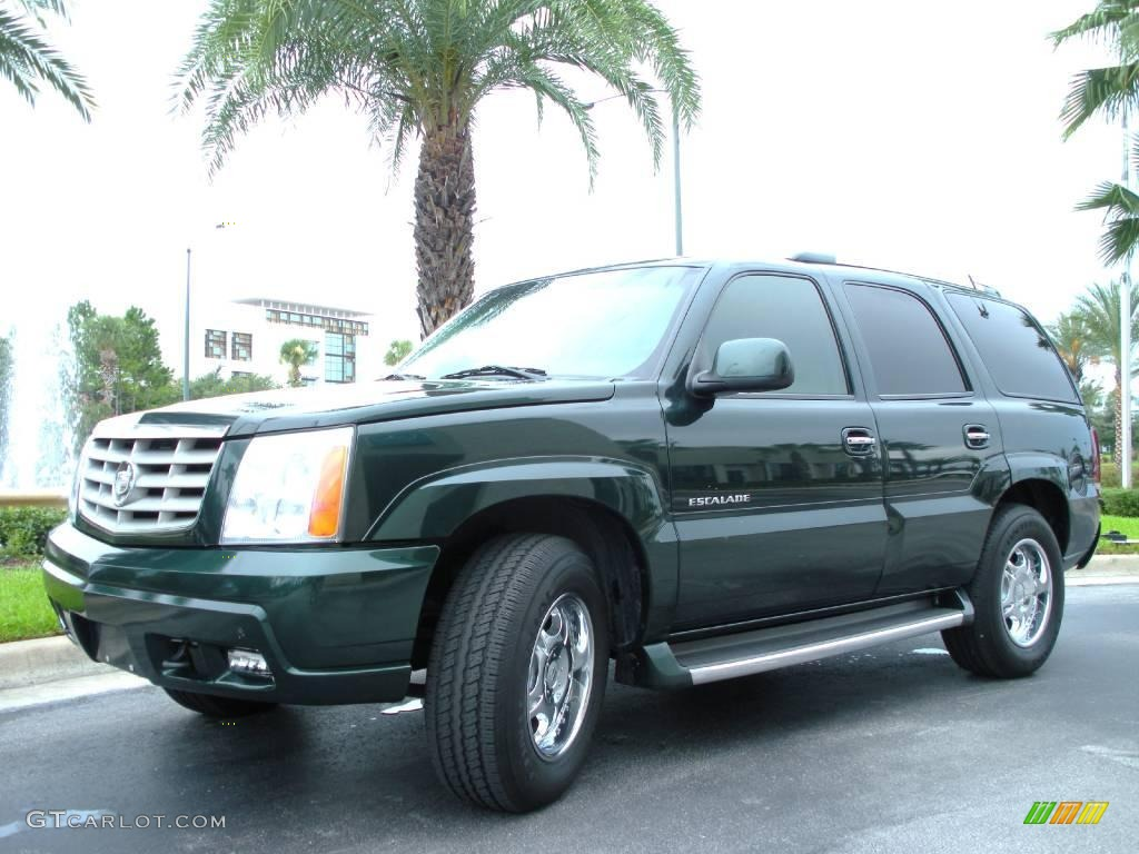 2002 escalade awd green envy shale photo 2