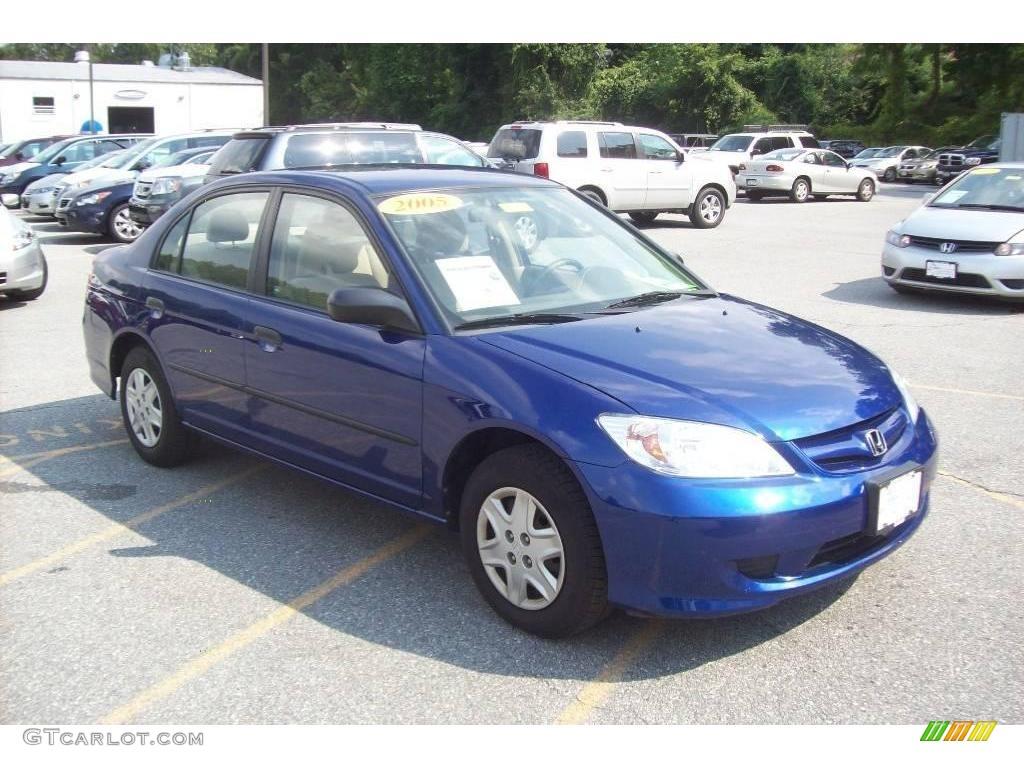 2005 fiji blue pearl honda civic value package sedan