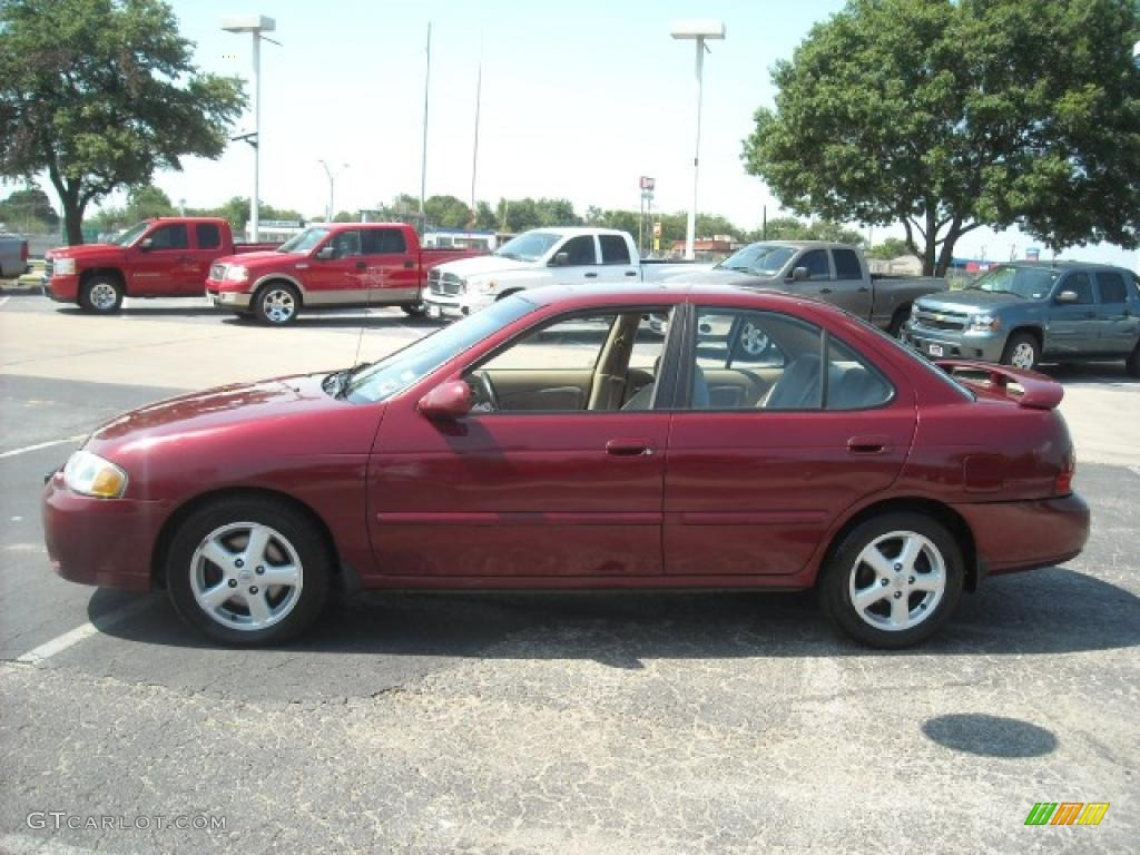 2003 inferno red nissan sentra 2.5 limited edition #15105231
