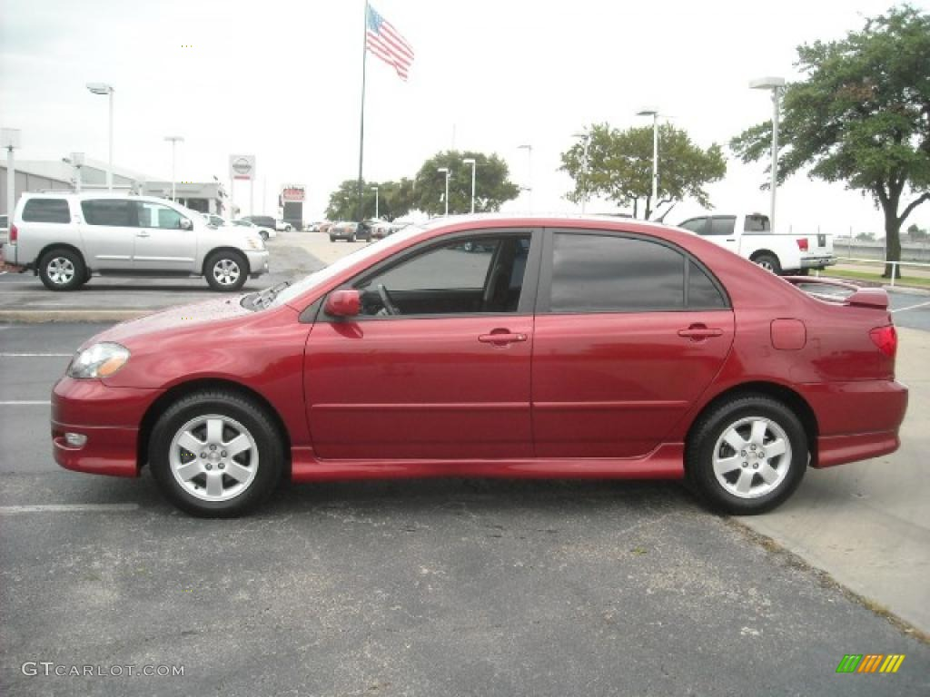 2006 impulse red pearl toyota corolla s 15105225 car color galleries. Black Bedroom Furniture Sets. Home Design Ideas