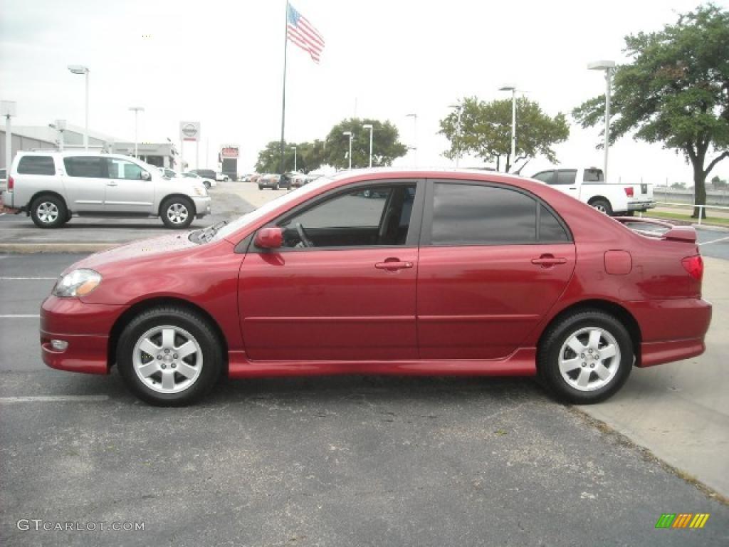 Impulse Red Pearl Toyota Corolla. Toyota Corolla S