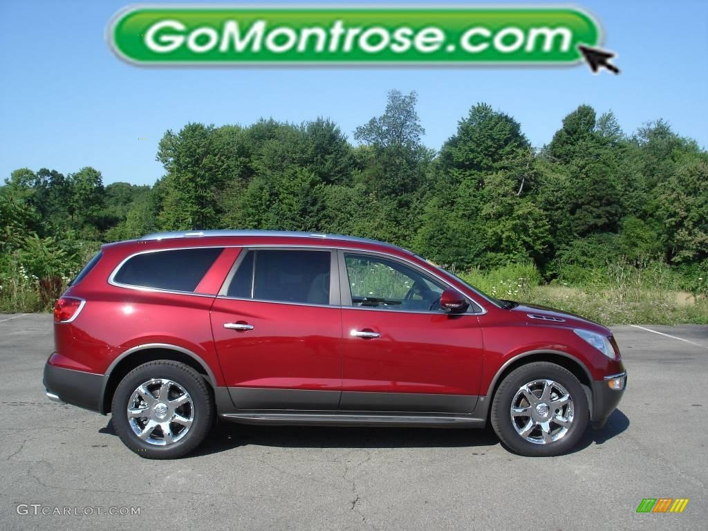 2008 Enclave CXL - Red Jewel / Titanium/Dark Titanium photo #1