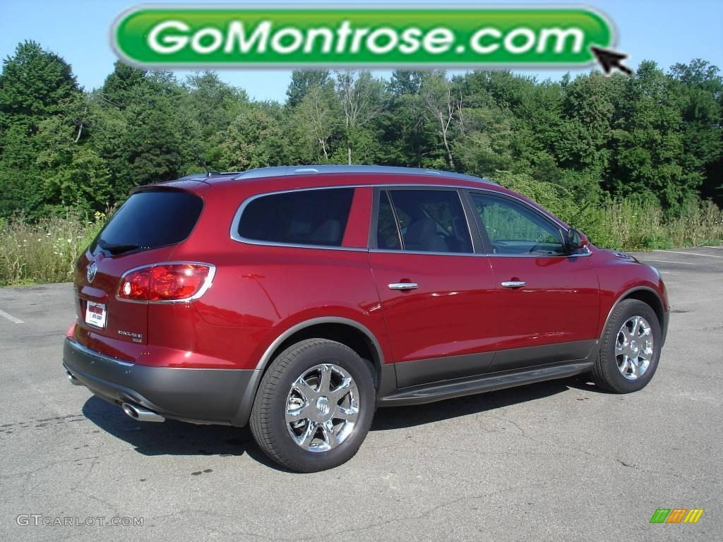 2008 Enclave CXL - Red Jewel / Titanium/Dark Titanium photo #2